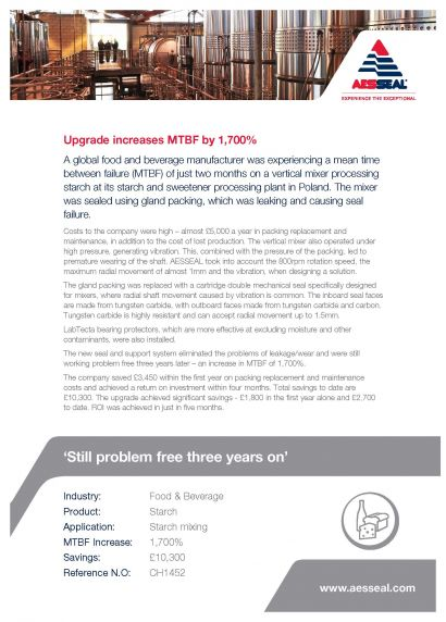Case Study - Upgrade increases MTBF by 1,700%