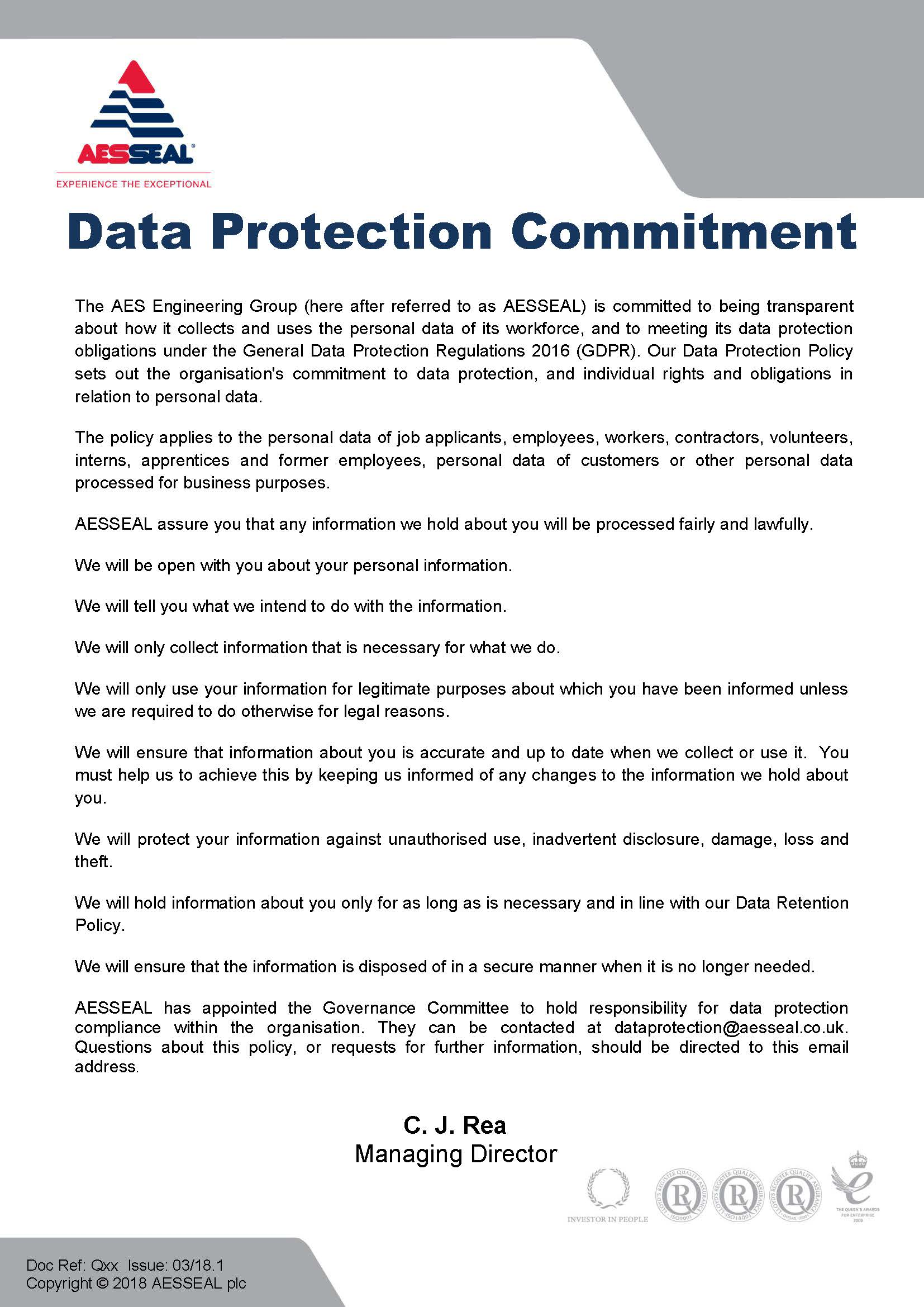 Data Protection Commitment