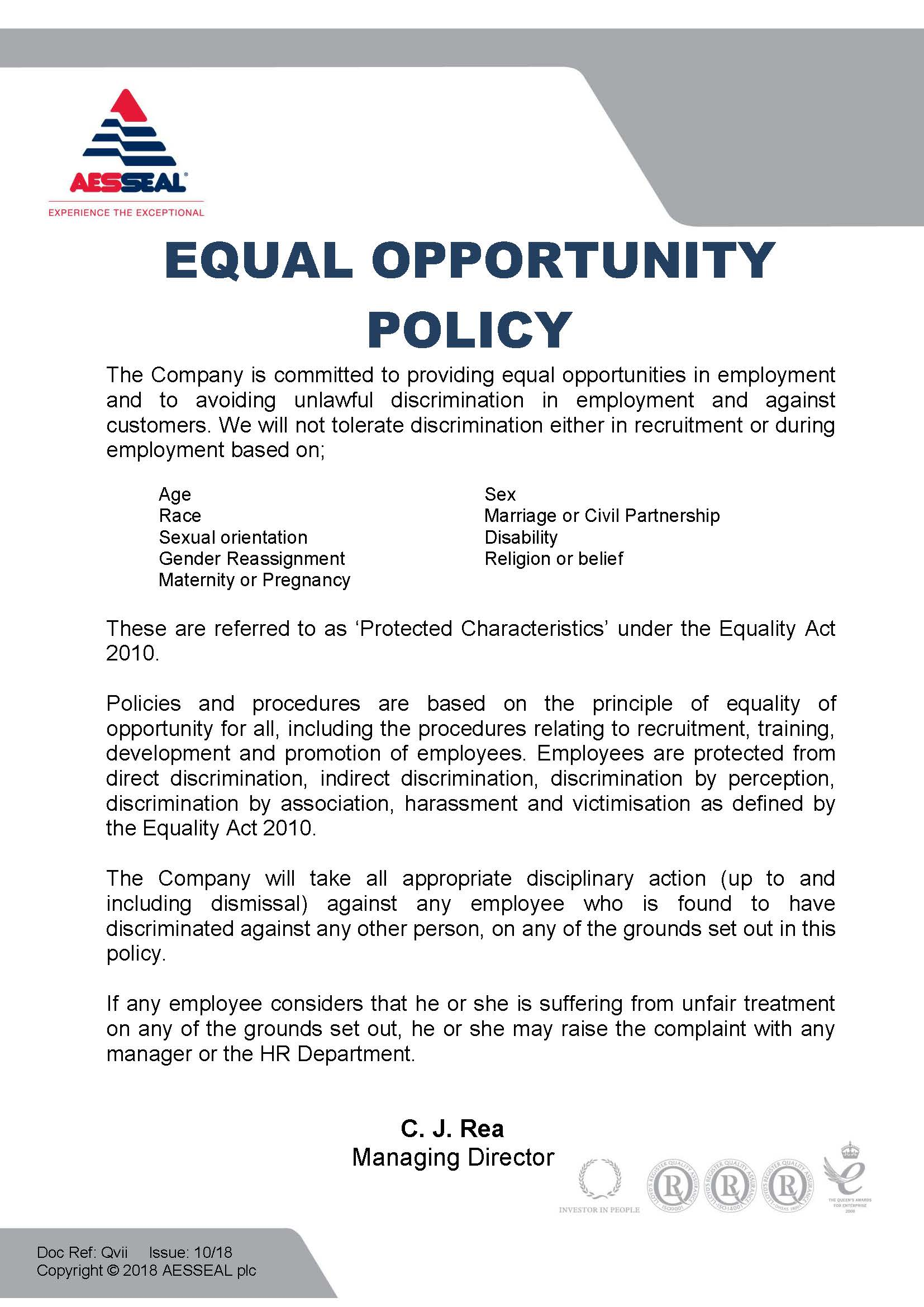 Equal Opportunity Policy