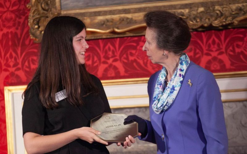 The ceremony took place on 31st October with Amber Nicholson accepting the award on behalf of AESSEAL from HRH The Princess Royal at St James's Palace.
